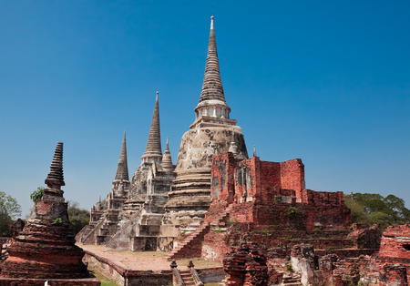 ruins of temple Phra Si Sanphet, Ayutthaya, Thailand  photo