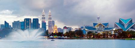 Views of Kuala Lumpur at Lake Titiwangsa, Malaysia