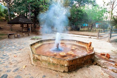 bowels: Hot spring Mae Kasa. Tak province, Thailand