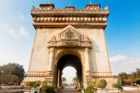 Patuxay(Patuxai) triumf arch in Vientian Laos