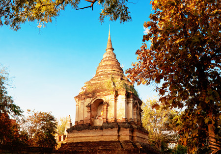 chiang mai: Temple Ched Yod, Chiang Mai, Thailand Stock Photo