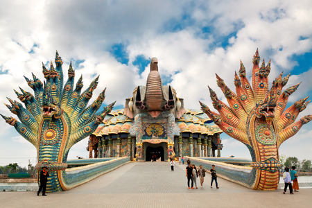 confessor: NAKHONRATCHASIMA PROVINCE, THAILAND - FEBRUARY 20: Ban Rai Temple is residence of  personal Confessor of king of Thailand and a popular destination among tourists. Thailand, February 20, 2014 Editorial