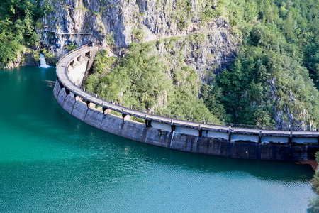 Speccheri dam, Alps, province of Trentino-Alto Adiges, Bolzano, Italy Stock Photo