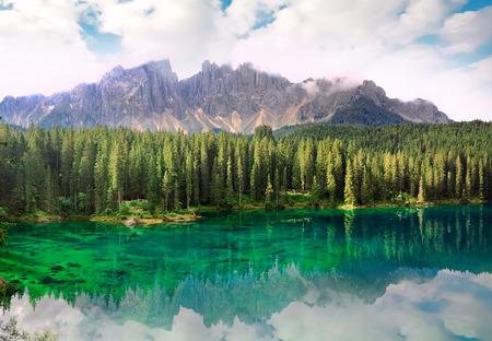 bolzano province: Lake Carezza, Dolomites Alps, province of Trentino-Alto Adiges, Bolzano, Italy