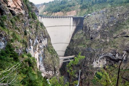 catastrophe: Dam Vaiont. Province Belluno, Italy. October 9, 1963 at dam was catastrophe