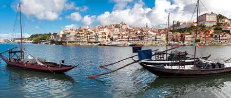rabelo: Rabelo boats in old Porto, Portugal