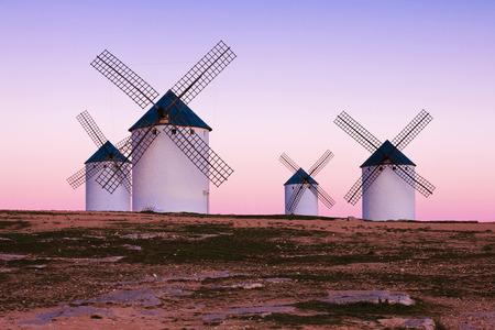 campo: windmill in Campo de Criptana, La Mancha, Spain