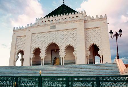 mausoleum: mausoleum of Muhammed V, Rabat, Morocco Stock Photo