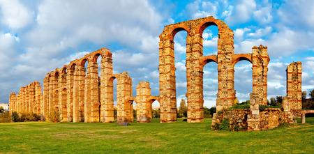 buttresses: Aqueduct Los Milagros, Merida, Spain