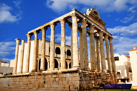 The roman temple of Diana in Merida, Spain Stock Photo - 41130930