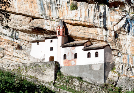 recluse: Hermitage of Saint Columban. Rovereto, province of Trentino-Alto Adiges, Bolzano, Italy