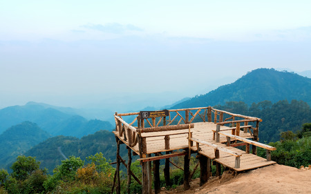 sone: Mon Sone view point at Mount Ang Khang, Province Chang Mai, Thailand Stock Photo