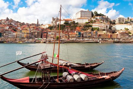 Rabelo boats in Porto, Portugal 写真素材