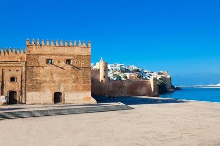 河口およびモロッコの首都ラバトの街の旧市街メディナを守る要塞