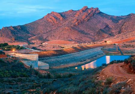 ibn: barrage Youssef Ibn Tachfin, Tinzit, Souss-Massa-Draa, Morocco Stock Photo