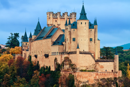 castile leon: Alcazar Castle in Segovia, Spain Editorial