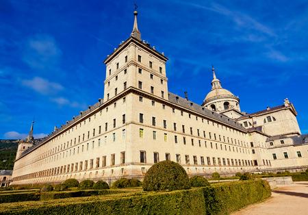 lorenzo: Royal Monastery in San Lorenzo El Escorial, Madrid, Spain Stock Photo
