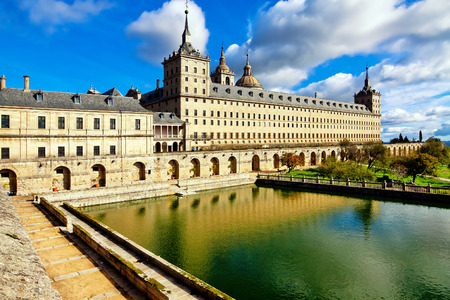 Royal Monastery in San Lorenzo El Escorial, Madrid, Spain Stock Photo