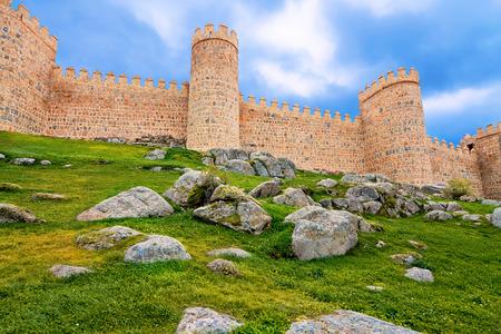 avila: walls of Avila, Spain