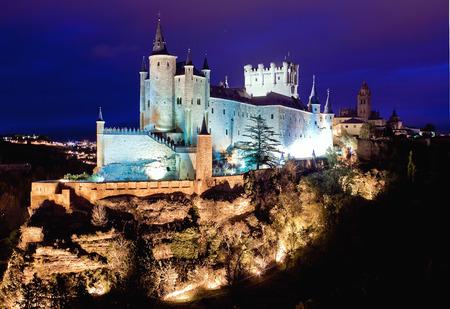 segovia: Alcazar Castle in Segovia, Spain Editorial