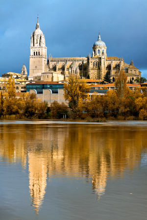 castile: Salamanca Cathedral. Castile and Leon, Spain Stock Photo