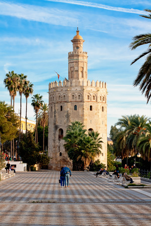 military watch: Torre del Oro (Gold Tower). in Sevilla, Spain