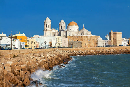 quay: Cathedral of Cadiz. Quay. Andalusia, Spain