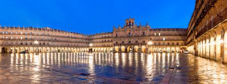 salamanca: Plaza Mayor at night, Salamanca, Spain Stock Photo