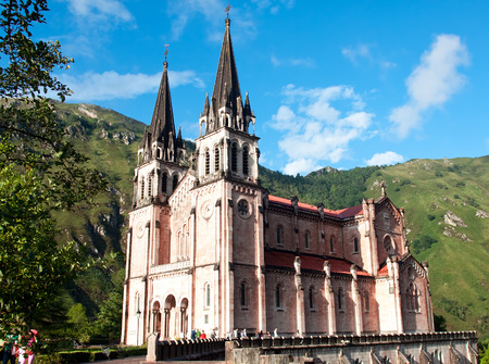 covadonga: Basilica of Santa Maria, Covadonga, Asturias, Spain Stock Photo