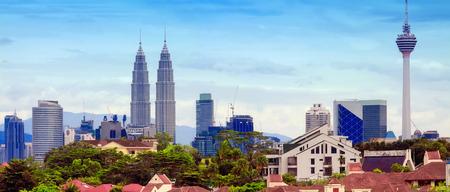 gemelas: Kuala Lumpur. Malasia Editorial