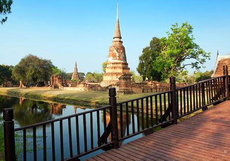 ruins of temple Chao Prab, Ayutthaya, Thailand Standard-Bild