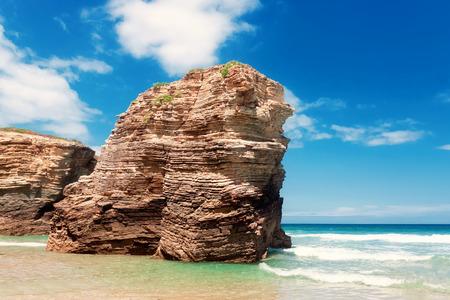 Beach of cathedrals, Galicia, Spain Standard-Bild