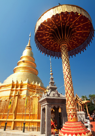 temple Phra That Hariphunchai in Lamphum, Province Chang Mai, Thailand