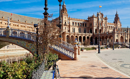 espana: Plaza de Espana. Seville, Spain