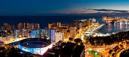 residental: Sea port and residental area in Malaga, Spain