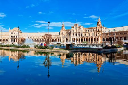 Spanish Square in Sevilla, Spain Standard-Bild