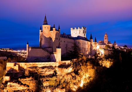 Alcazar Castle in Segovia, Spain Editorial