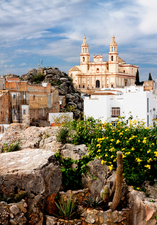 Parish of Our Lady of Incarnation in Olvera. Province of Cadiz, Spain