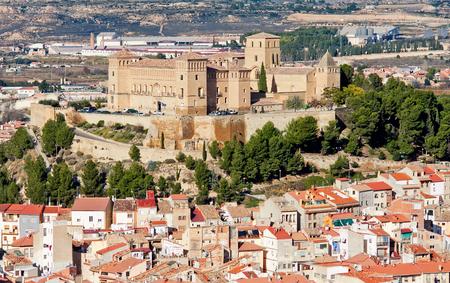 Castle of Alcaniz in winter. Aragon, Spain