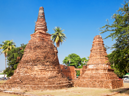 Chedi temple Suwannawas in province of Ayutthaya, Thailand