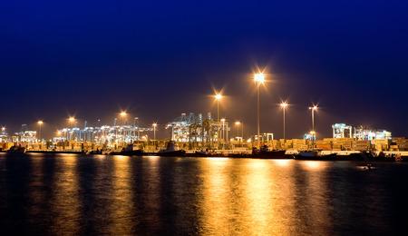 Evening view of Port of Algeciras Standard-Bild