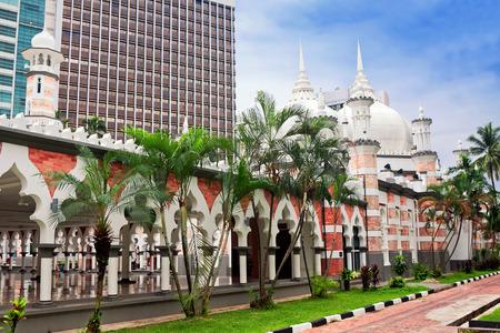 Mosque Jamek at Kuala Lumpur, Malaysia
