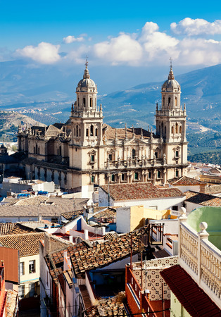 Cathedral in Jaen. Andalusia, Spain Standard-Bild