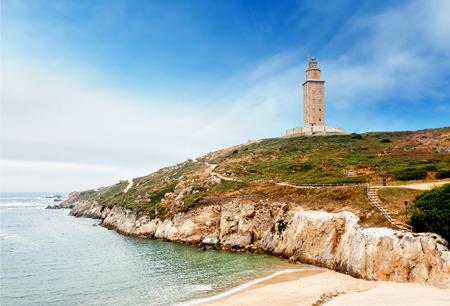 Hercules tower, A Coruna, Galicia, Spain Stock Photo