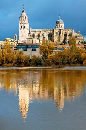 castile: Salamanca Cathedral. Castile and Leon, Spain Stock Photo