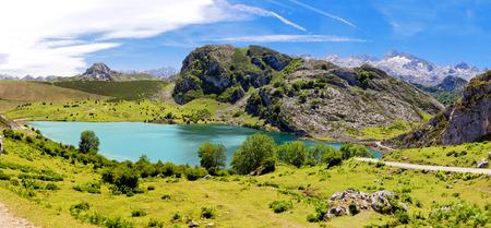 covadonga: Lake Enol. Cantabrian. Covadonga. Asturias. Spain.