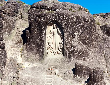 senhora: Monument Senhora da Boa Estrela, Portugal Stock Photo