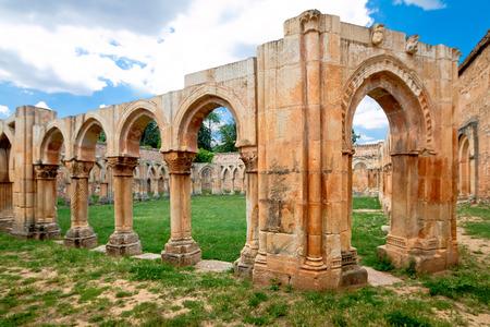 san juan: cloister of San Juan de Duero Monastery in Soria. Spain Stock Photo
