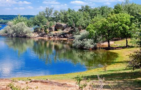 castile leon: reservoir Pozo on river Diero, Vinuesa, Comarca de Pinares, Soria, Castile and Leon, Spain