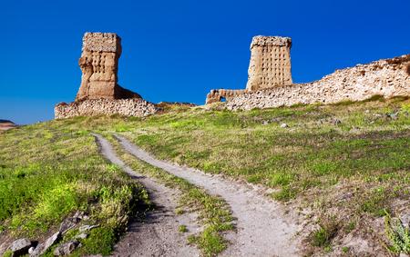 castile and leon: ruins of castle of Palenzuela. Castile and Leon, Spain